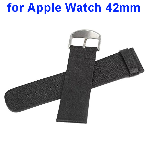 Genuine Leather Wristbands Replacement Wrist Band Strap for Apple Watch (42mm)