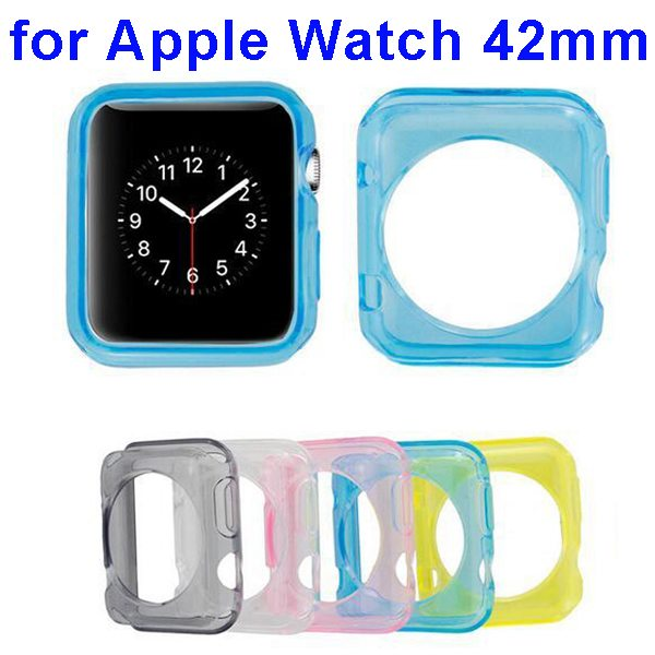 Newest Transparent Clear Soft TPU Case Cover for Apple Watch 42mm
