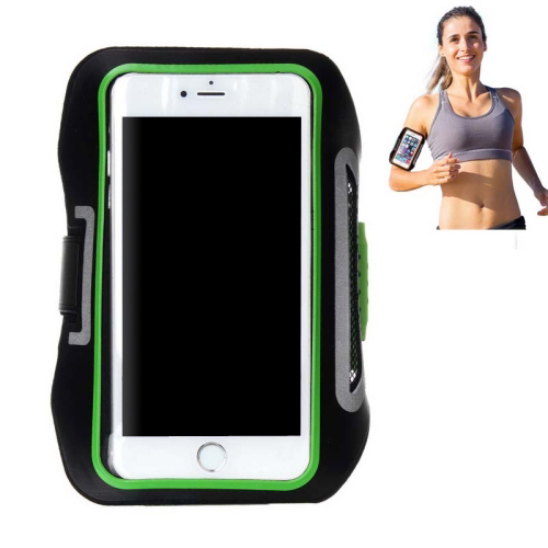 Double Buckle Design Universal Sports Armband Case for iPhone 6, for Samsung Galaxy S4/ S3 with Earphone Hole (Green)