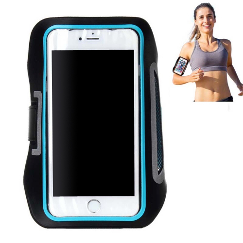 Double Buckle Design Universal Sports Armband Case for iPhone 6, for Samsung Galaxy S4/ S3 with Earphone Hole (Blue)