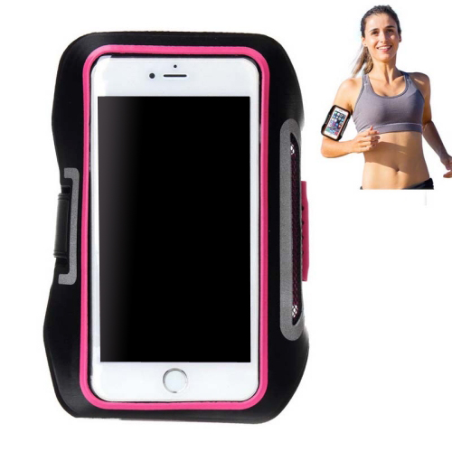 Double Buckle Design Universal Sports Armband Case for iPhone 6, for Samsung Galaxy S4/ S3 with Earphone Hole (Rose)