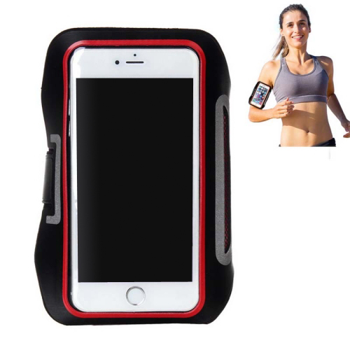 Double Buckle Design Universal Sports Armband Case for iPhone 6, for Samsung Galaxy S4/ S3 with Earphone Hole (Red)