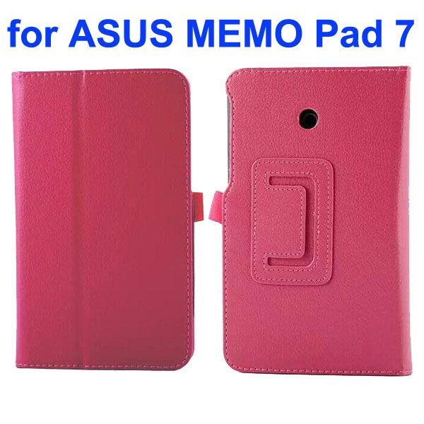 Litchi Texture Flip Stand Leather Case for Asus MeMO Pad 7 ME70CX (Rose)