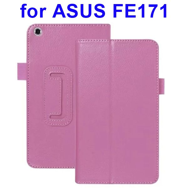 Multi-Colors Litchi Texture Flip Leather Case for ASUS FE171 (Purple)