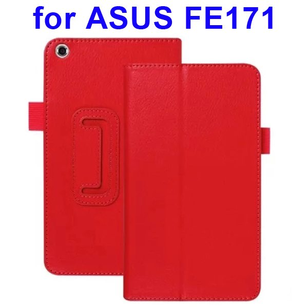 Multi-Colors Litchi Texture Flip Leather Case for ASUS FE171 (Red)