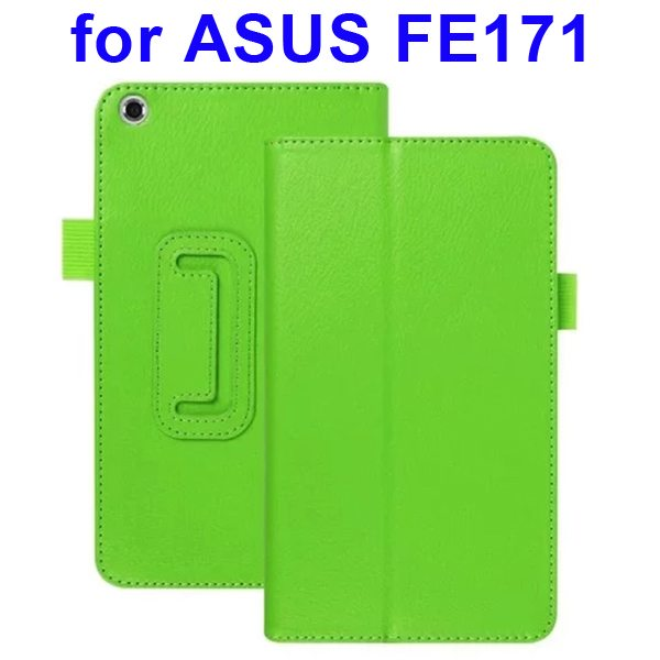 Multi-Colors Litchi Texture Flip Leather Case for ASUS FE171 (Green)