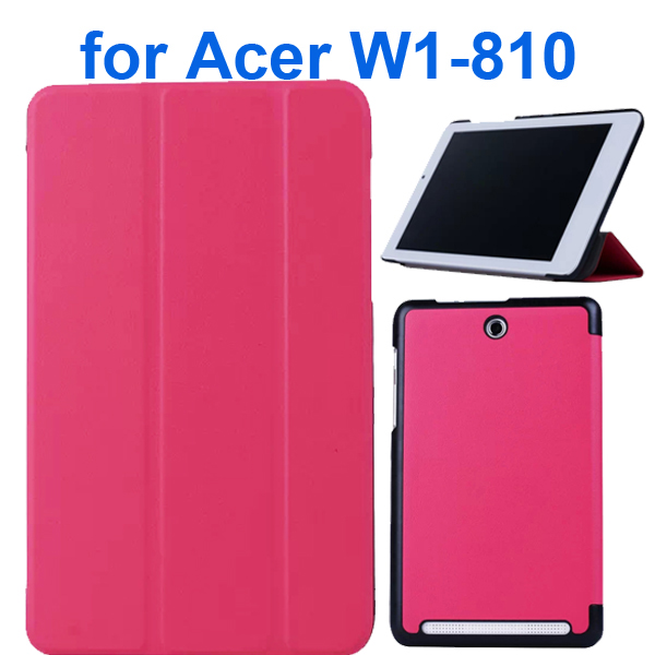 Karst Texture 3 Folding Pattern Flip Leather Case for Acer Iconia Tab 8 W1-810 (Red)