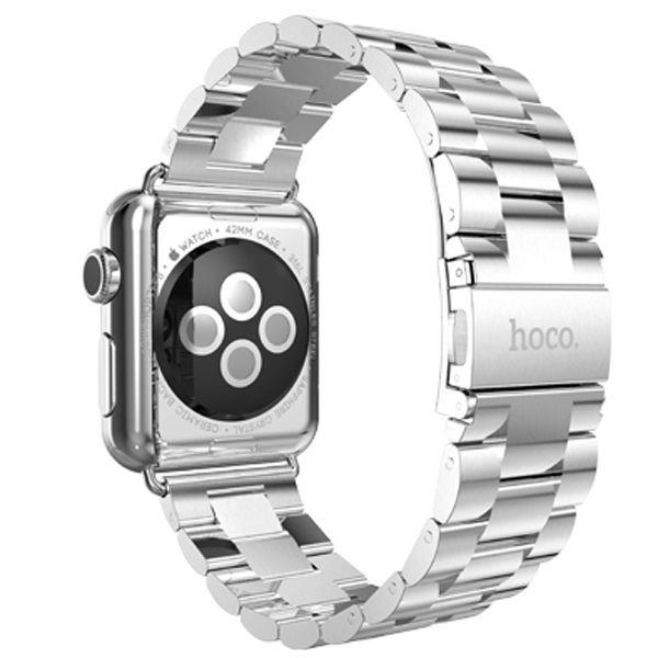 HOCO Stainless Steel Wrist Band with Metal Clasp for Apple Watch 38mm (Silver)