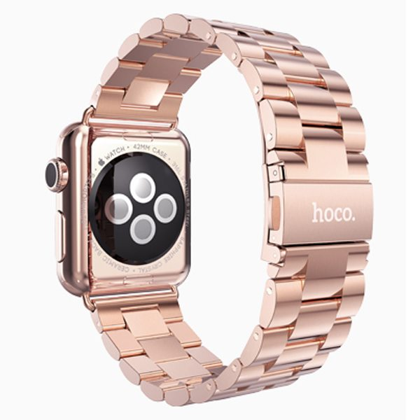 HOCO Stainless Steel Wrist Band with Metal Clasp for Apple Watch 38mm (Rose Golden)