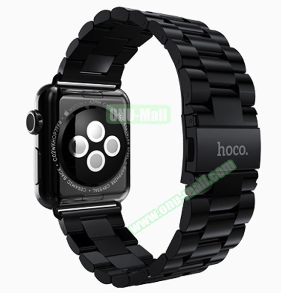 HOCO Stainless Steel Wrist Band with Metal Clasp for Apple Watch 38mm (Black)