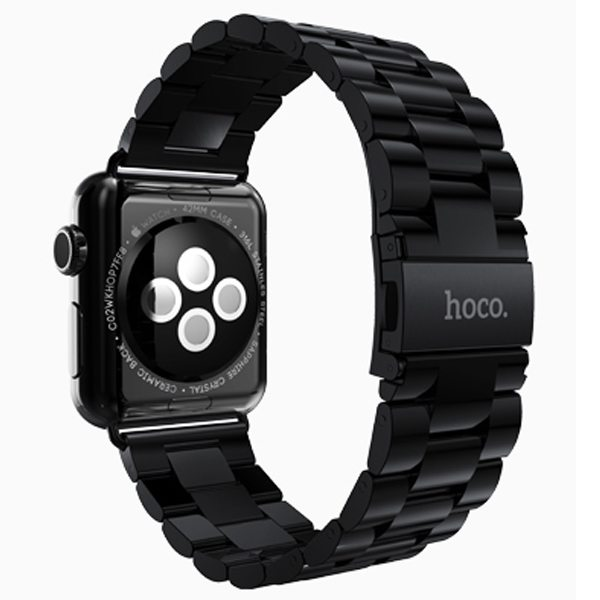 HOCO Stainless Steel Wrist Band with Metal Clasp for Apple Watch 42mm (Black)