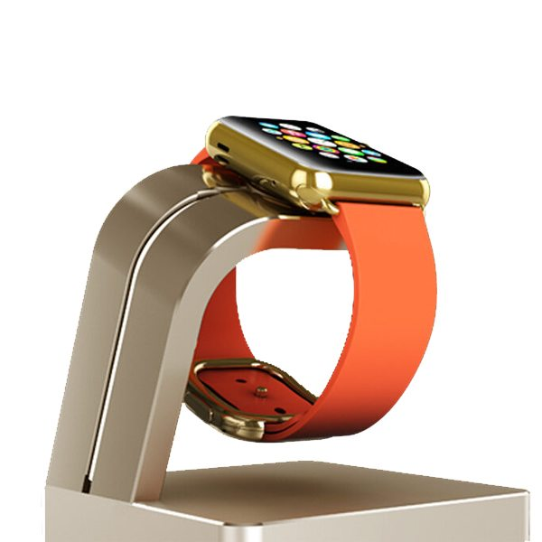 Newest Superior Aluminium Alloy Charging Dock for Apple Watch (Golden)