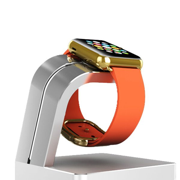 Newest Superior Aluminium Alloy Charging Dock for Apple Watch (Silver)