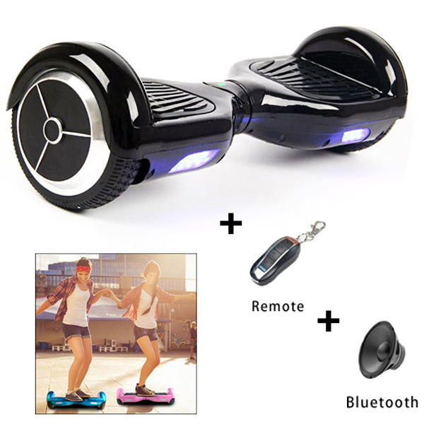 6.5 inch Electric Drifting Board Two Wheels Smart Self Balancing Scooter with Bluetooth and Remote Control Function (Black)