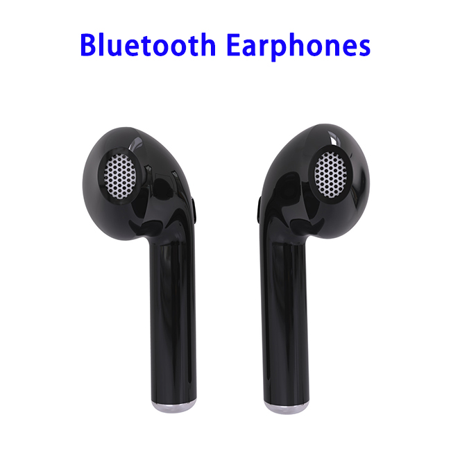 HBQi7 4.2 TWS Mini Wireless Independent Stereo Double Bluetooth Headset Music Earphone (Black)
