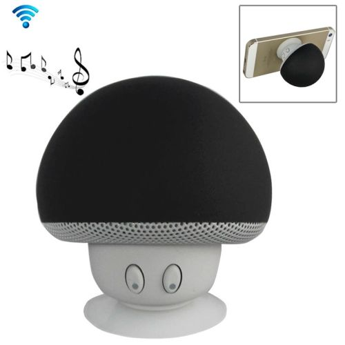Cute Mushroom Shape Bluetooth Speaker with Suction Holder (Black)