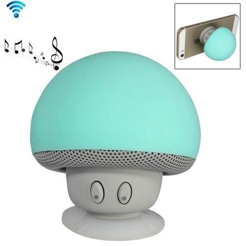 Cute Mushroom Shape Bluetooth Speaker with Suction Holder (Green)
