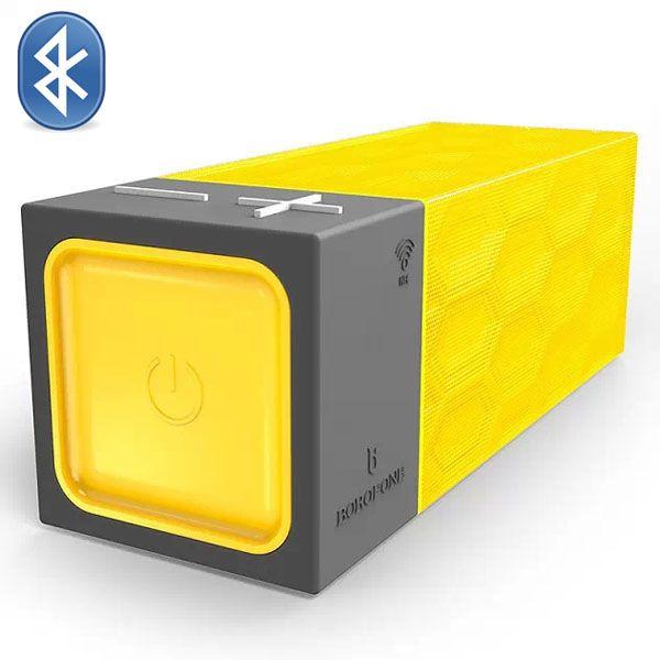 Borofone Water Cube Structure Design Wireless Bluetooth Speaker (Yellow)
