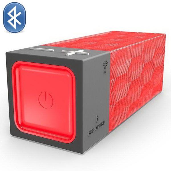 Borofone Water Cube Structure Design Wireless Bluetooth Speaker (Red)