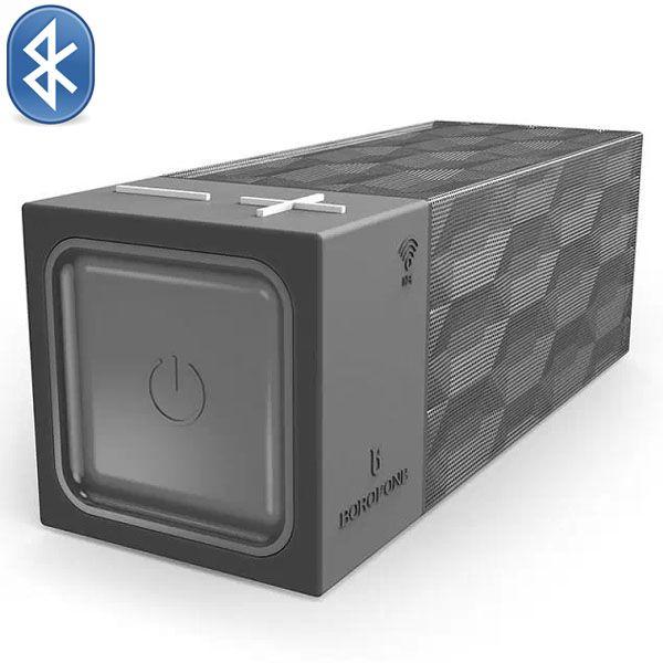 Borofone Water Cube Structure Design Wireless Bluetooth Speaker (Grey)