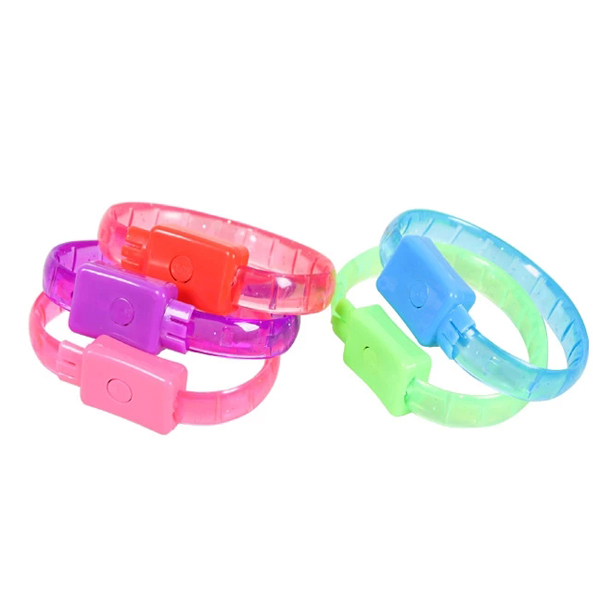 Luminous Warning Flash Light Wristband Bracelet for Outdoor Sports (Pack of 5)