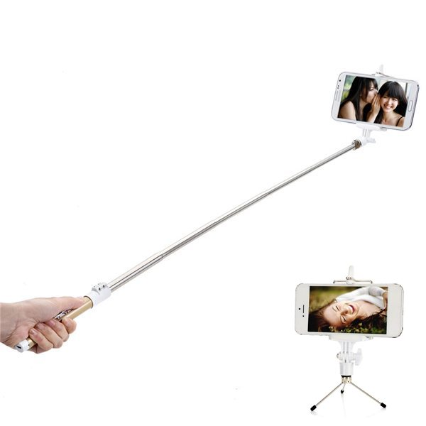 Superior Quality Stainless Steel Handheld Extendable Remote Focusing Bluetooth Selfie Stick Mobile Phone Monopod
