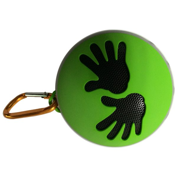 Hot Seller Cute Palms Pattern Mini Outdoor Sports Shockproof Waterproof Bluetooth Speaker with NFC Function (Green)