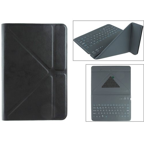 Ultrathin Universal Bluetooth Keyboard for 7.89 Inch Tablet PC with Leather Case and Holder (Black)