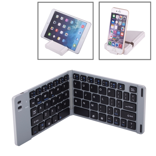 2-fold Universal Alunminum Alloy Bluetooth Keyboard for iPhone and Other Android System Device with Case