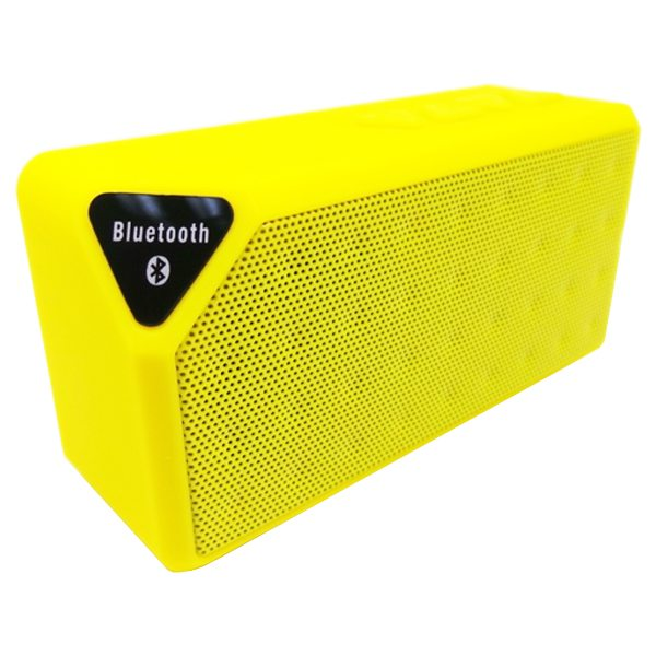 Water Cube Style X3 Mini Wireless Bluetooth Speaker That Supports TF Card Hands Handsfree Call (Yellow)