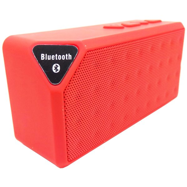 Water Cube Style X3 Mini Wireless Bluetooth Speaker That Supports TF Card Hands Handsfree Call (Red)
