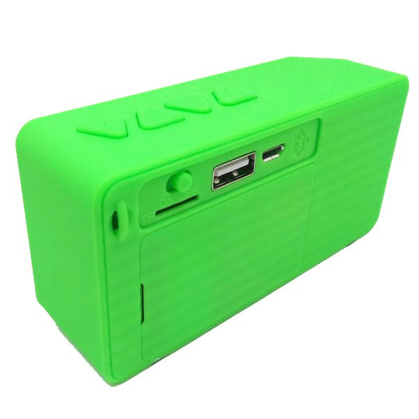 Water Cube Style X3 Mini Wireless Bluetooth Speaker That Supports TF Card Hands Handsfree Call (Green)