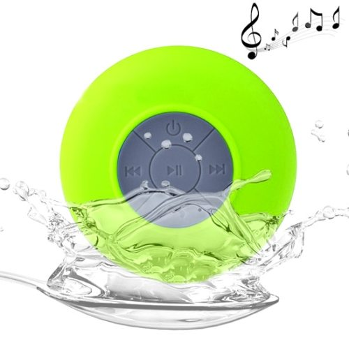 BTS-06 Waterproof Mini Bluetooth Speaker for iPad/ iPhone/ Other Bluetooth Mobile Phone with Suction Holder (Green)