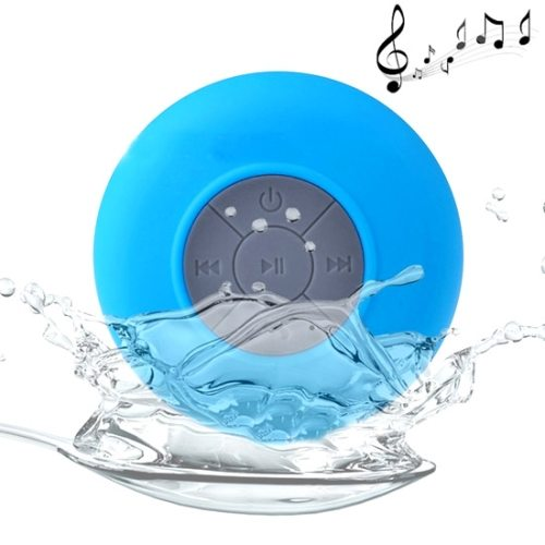 BTS-06 Waterproof Mini Bluetooth Speaker for iPad/ iPhone/ Other Bluetooth Mobile Phone with Suction Holder (Blue)