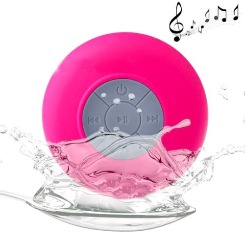BTS-06 Waterproof Mini Bluetooth Speaker for iPad/ iPhone/ Other Bluetooth Mobile Phone with Suction Holder (Magenta)