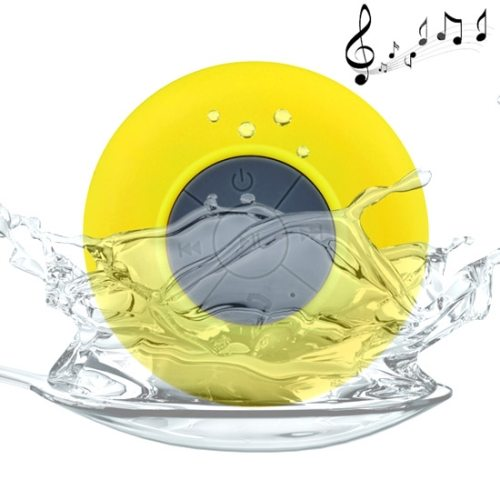 BTS-06 Waterproof Mini Bluetooth Speaker for iPad/ iPhone/ Other Bluetooth Mobile Phone with Suction Holder (Yellow)
