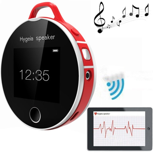 Hygeia H7 LCD Touch Screen Health Partners Mini Portable Bluetooth Speaker with MP3 (Red)