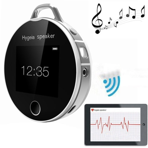 Hygeia H7 LCD Touch Screen Health Partners Mini Portable Bluetooth Speaker with MP3 (Silver)