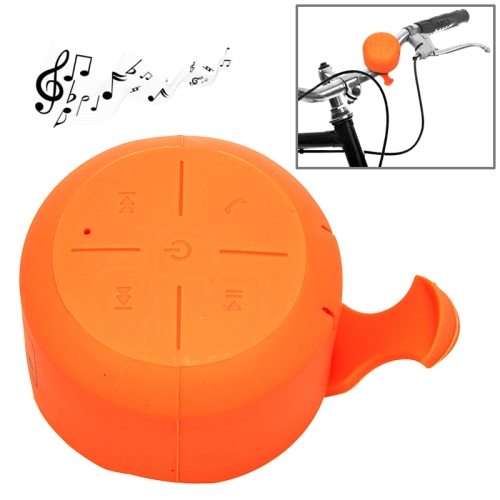 IPX4 Waterproof Mini Silicone Bicycle Bluetooth Speaker Support Handfree Function (Orange)