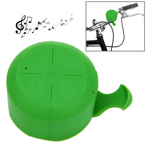 IPX4 Waterproof Mini Silicone Bicycle Bluetooth Speaker Support Handfree Function (Green)