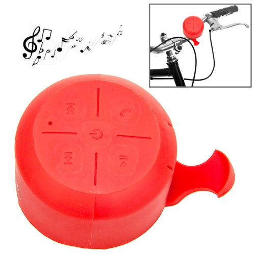 IPX4 Waterproof Mini Silicone Bicycle Bluetooth Speaker Support Handfree Function (Red)