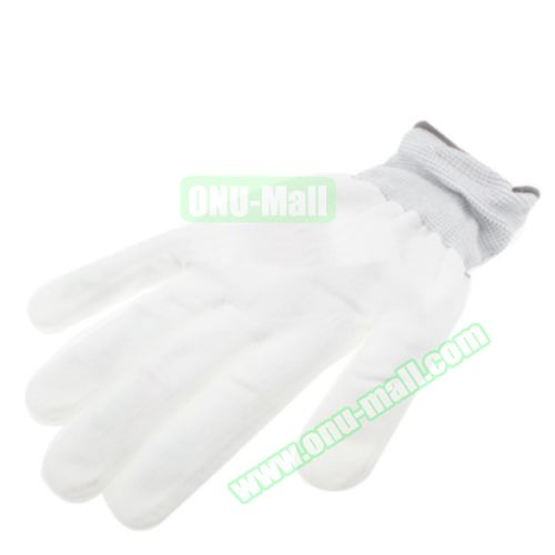 2 x 6 Multi-Color Changing LED Party Gloves (White)