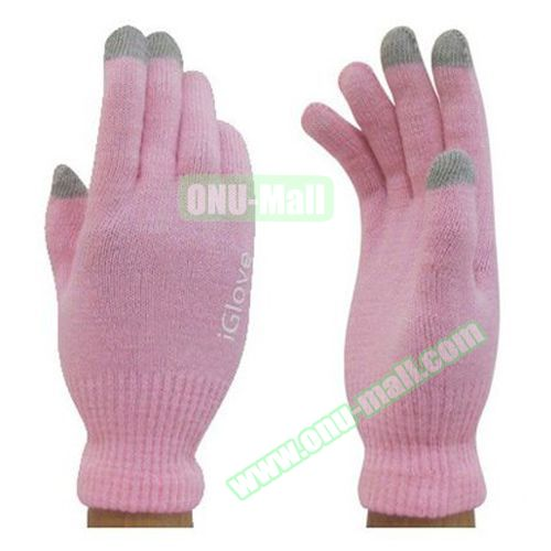iGlove Unisex Knit Touch Gloves for iPhone 6 / 6 Plus, Samsung Note 4, S5 and All Tablets (Pink)