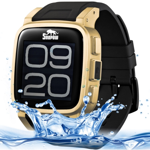 SNOPOW W1 1.6 inch OGS Full Lamination Capacitive Waterproof Touch Screen Smart Watch (Gold)