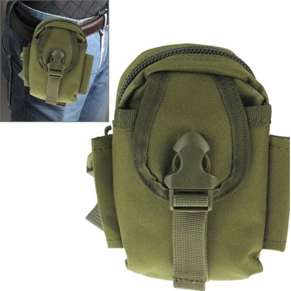 Multi-function High Density Durable Nylon Waist Bag for Outdoor Activities (Army Green)