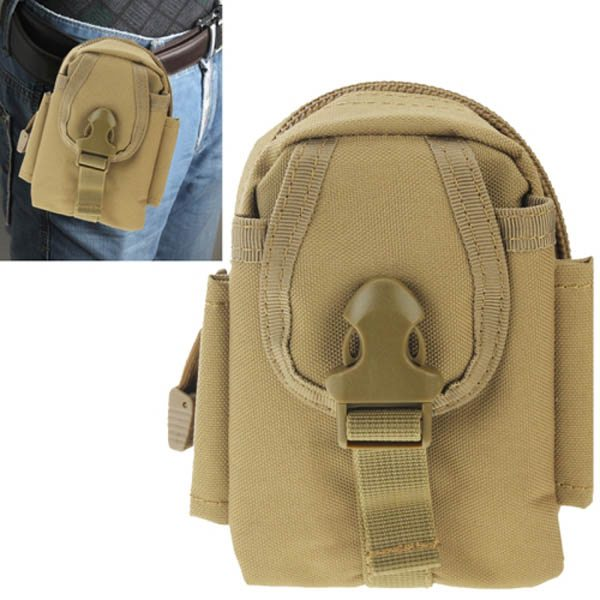 Multi-function High Density Durable Nylon Waist Bag for Outdoor Activities (Khaki)
