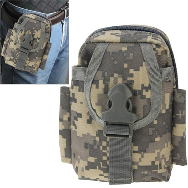 Multi-function High Density Durable Nylon Waist Bag for Outdoor Activities (Grey Camouflage)
