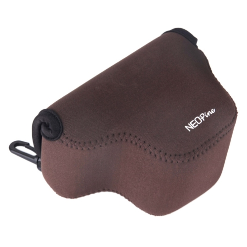 Triangle Shape Design Neoprene Camera Bag for Samsung NX3000 20-50mm Lens Camera (Brown)