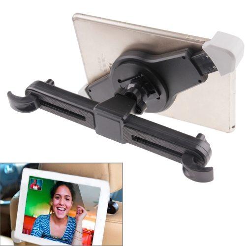360 Degrees Rotation Universal Car Headrest Mount Holder for iPad 2/ 3/ 4, iPad mini 1/ 2/ 3 (Black)