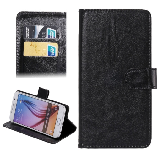 3.8-4.3 Inch Crazy Horse Texture 360 Degree Rotatable Universal Case for Samsung Galaxy SII/ i9100/ iPhone 4/ 4S/ 5/ 5C/ 5S (Black)